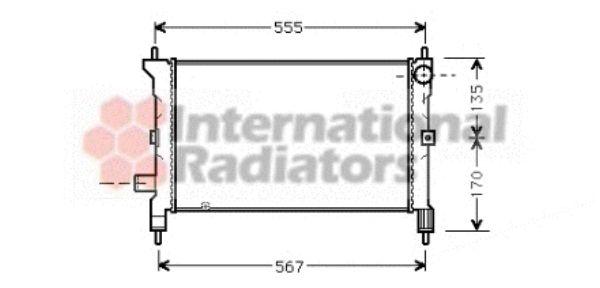 Radiateur, refroidissement du moteur - VAN WEZEL - 02002080