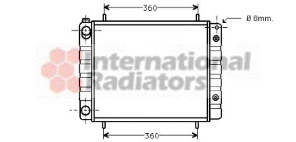 Radiateur, refroidissement du moteur - VAN WEZEL - 02002082