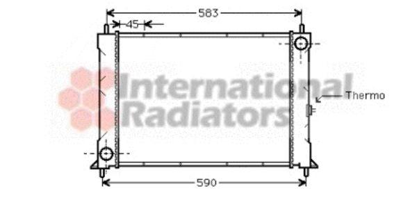Radiateur, refroidissement du moteur - VAN WEZEL - 02002094