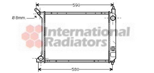 Radiateur, refroidissement du moteur - VAN WEZEL - 02002095
