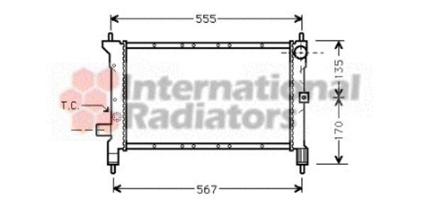 Radiateur, refroidissement du moteur - VAN WEZEL - 02002100