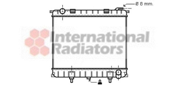 Radiateur, refroidissement du moteur - VAN WEZEL - 02002126