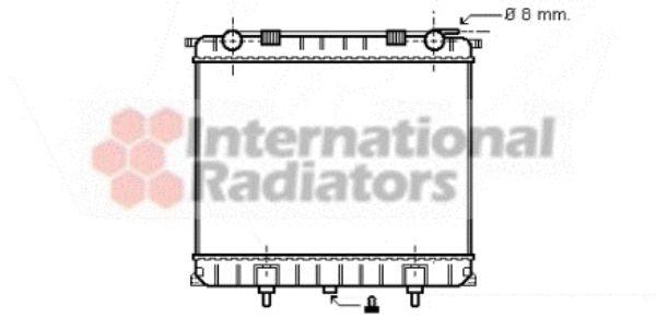 Radiateur, refroidissement du moteur - VAN WEZEL - 02002125