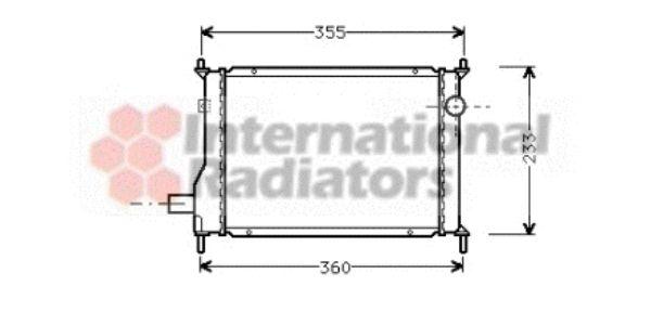 Radiateur, refroidissement du moteur - VAN WEZEL - 02002133