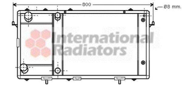 Radiateur, refroidissement du moteur - VAN WEZEL - 02002137