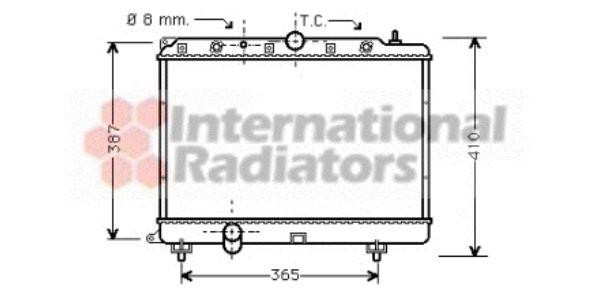 Radiateur, refroidissement du moteur - VAN WEZEL - 02002154