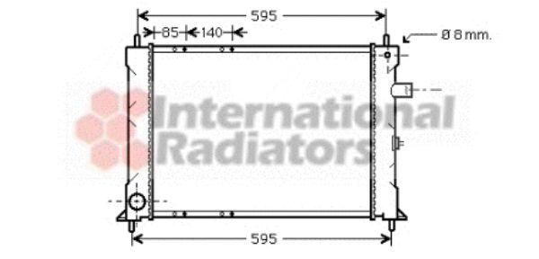 Radiateur, refroidissement du moteur - VAN WEZEL - 02002155