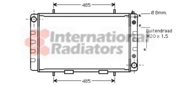 Radiateur, refroidissement du moteur - VAN WEZEL - 02002162