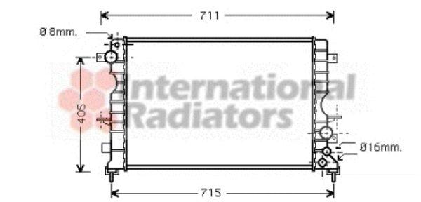 Radiateur, refroidissement du moteur - VAN WEZEL - 02002165