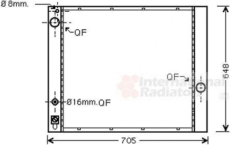 Radiateur, refroidissement du moteur - VAN WEZEL - 02002166
