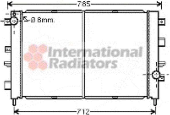 Radiateur, refroidissement du moteur - VAN WEZEL - 02002175