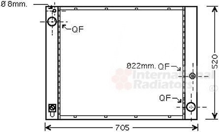 Radiateur, refroidissement du moteur - VAN WEZEL - 02002183