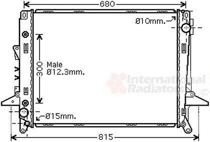 Radiateur, refroidissement du moteur - VAN WEZEL - 02002197