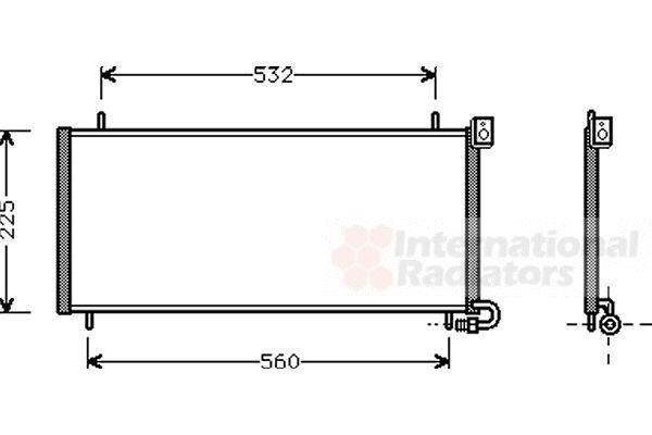 Condenseur, climatisation - VAN WEZEL - 02005115