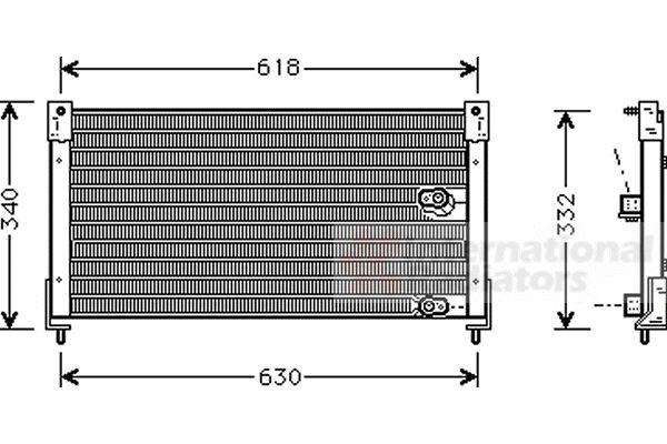 Condenseur, climatisation - VAN WEZEL - 02005116