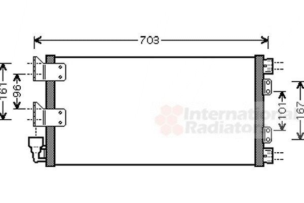 Condenseur, climatisation - VAN WEZEL - 02005178