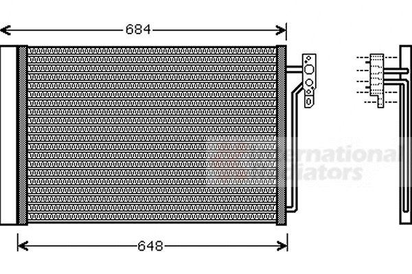Condenseur, climatisation - VAN WEZEL - 02005182