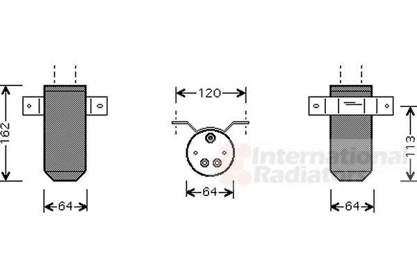 Filtre déshydratant, climatisation - VAN WEZEL - 0200D039