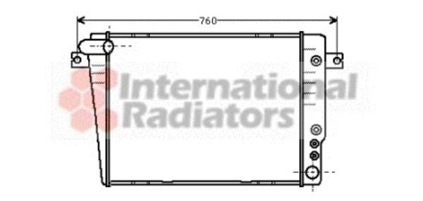 Radiateur, refroidissement du moteur - VAN WEZEL - 06002020