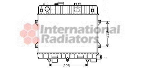 Radiateur, refroidissement du moteur - VAN WEZEL - 06002032