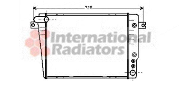 Radiateur, refroidissement du moteur - VAN WEZEL - 06002035