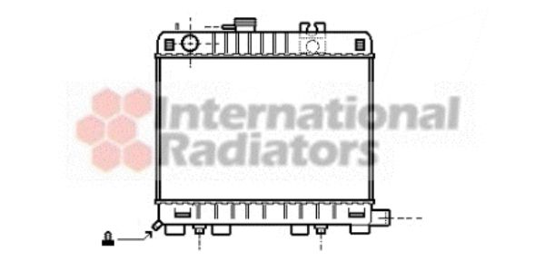 Radiateur, refroidissement du moteur - VAN WEZEL - 06002042