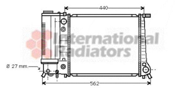 Radiateur, refroidissement du moteur - VAN WEZEL - 06002082