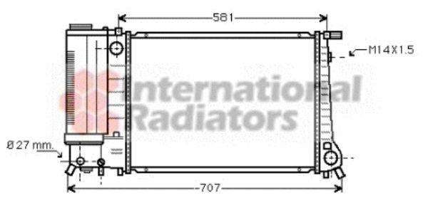 Radiateur, refroidissement du moteur - VAN WEZEL - 06002090