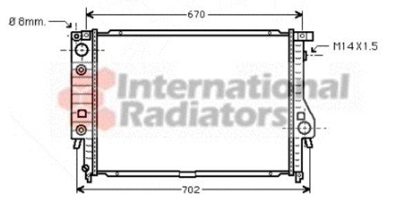 Radiateur, refroidissement du moteur - VAN WEZEL - 06002092