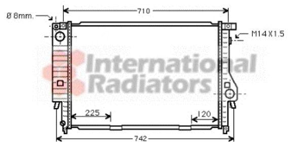 Radiateur, refroidissement du moteur - VAN WEZEL - 06002095