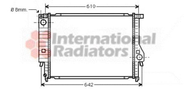 Radiateur, refroidissement du moteur - VAN WEZEL - 06002096