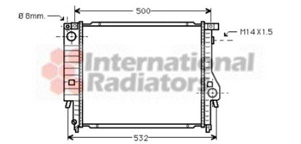 Radiateur, refroidissement du moteur - VAN WEZEL - 06002098