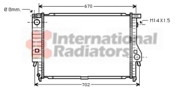 Radiateur, refroidissement du moteur - VAN WEZEL - 06002102