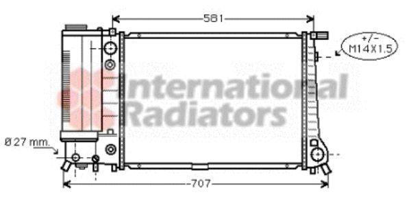 Radiateur, refroidissement du moteur - VAN WEZEL - 06002105