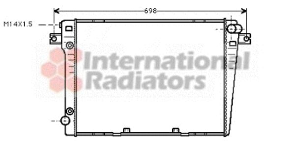Radiateur, refroidissement du moteur - VAN WEZEL - 06002107
