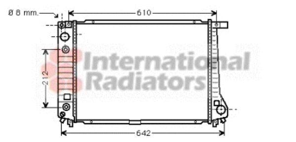 Radiateur, refroidissement du moteur - VAN WEZEL - 06002126