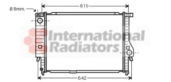 Radiateur, refroidissement du moteur - VAN WEZEL - 06002132