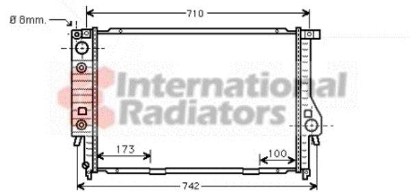 Radiateur, refroidissement du moteur - VAN WEZEL - 06002134
