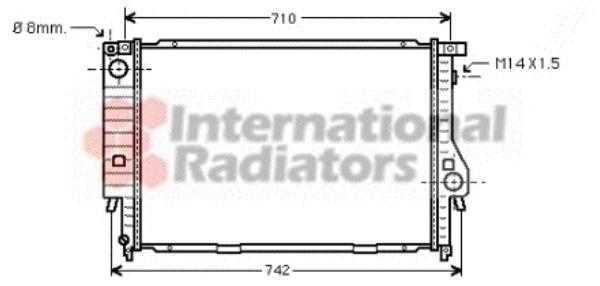 Radiateur, refroidissement du moteur - VAN WEZEL - 06002138