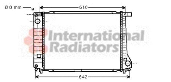 Radiateur, refroidissement du moteur - VAN WEZEL - 06002179