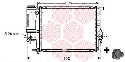 Radiateur, refroidissement du moteur - VAN WEZEL - 06002201