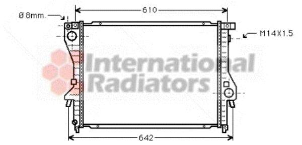 Radiateur, refroidissement du moteur - VAN WEZEL - 06002222