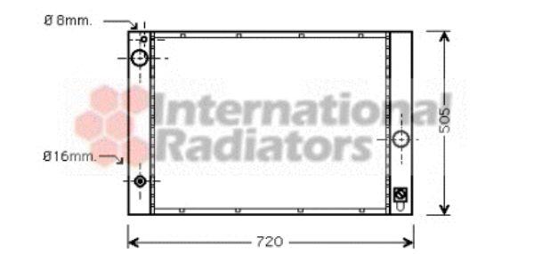 Radiateur, refroidissement du moteur - VAN WEZEL - 06002236