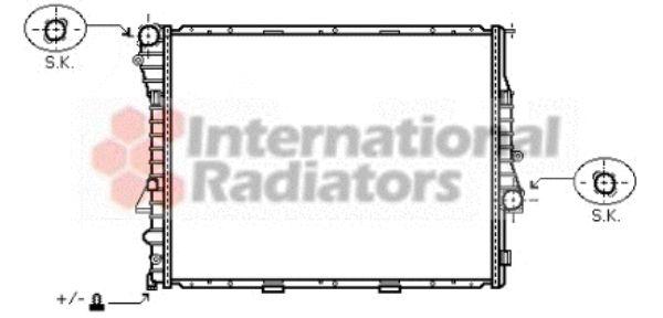 Radiateur, refroidissement du moteur - VAN WEZEL - 06002274