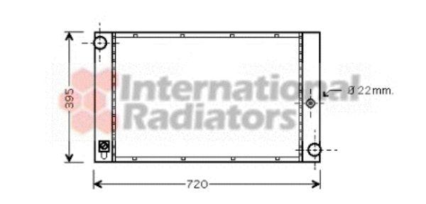 Radiateur, refroidissement du moteur - VAN WEZEL - 06002277