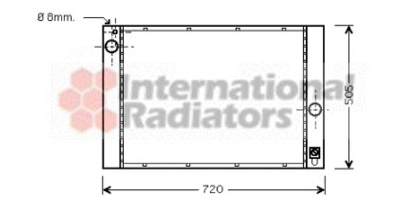 Radiateur, refroidissement du moteur - VAN WEZEL - 06002284