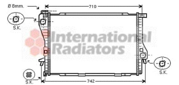 Radiateur, refroidissement du moteur - VAN WEZEL - 06002301