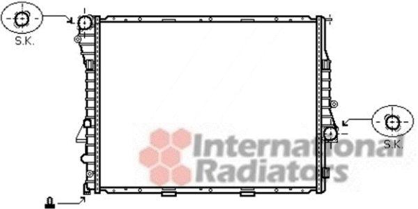 Radiateur, refroidissement du moteur - VAN WEZEL - 06002302