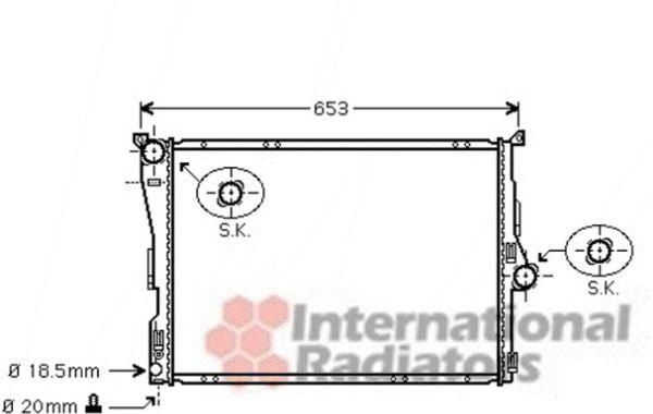 Radiateur, refroidissement du moteur - VAN WEZEL - 06002304