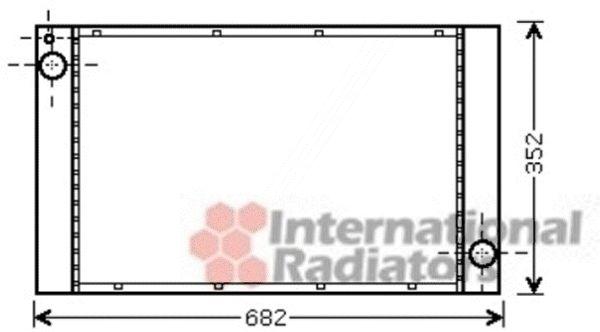 Radiateur, refroidissement du moteur - VAN WEZEL - 06002333